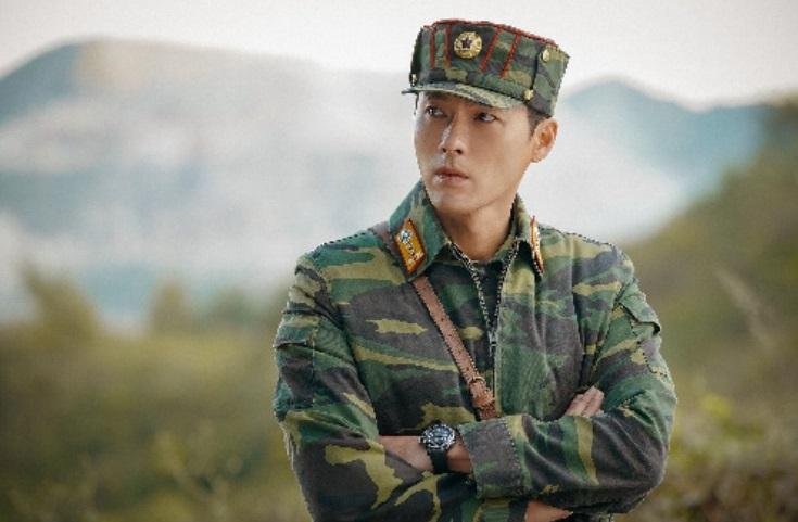 北朝鮮のエリート将校、リ・ジョンヒョク役のヒョンビン=「愛の不時着」独占配信中のネットフリックス提供
