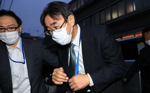 写真・図版 : 東京高検の黒川弘務検事長=2020年5月21日、東京都目黒区