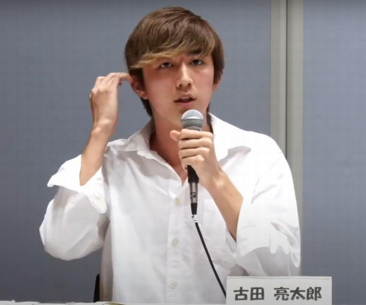 オンラインイベントで意見を述べる古田亮太郎さん