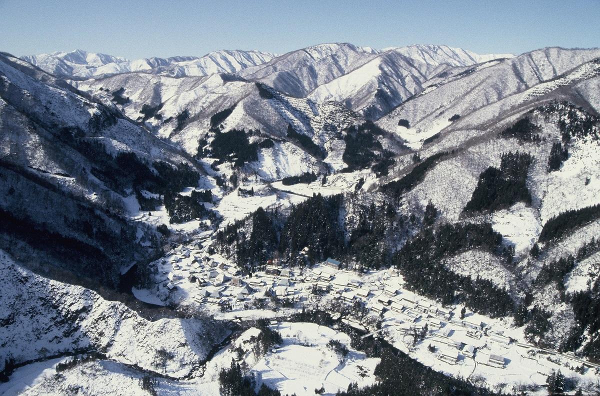 写真・図版 : 岐阜県揖斐郡徳山村=1983年