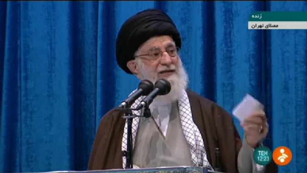 写真・図版 : イランの最高指導者ハメネイ師=2020年1月17日のイラン国営テレビから