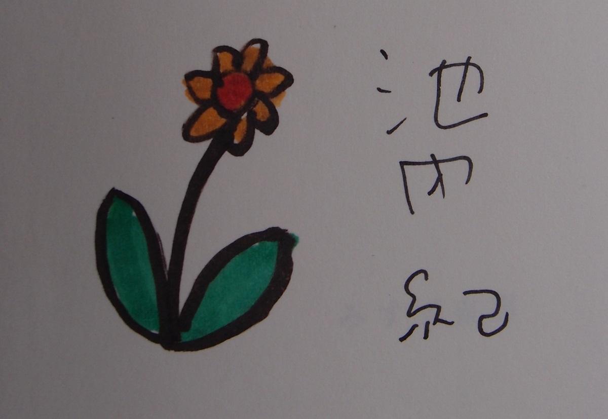 写真・図版 : 池内紀さんから送られた『無口な友人』の見返しに描かれたカット=筆者提供