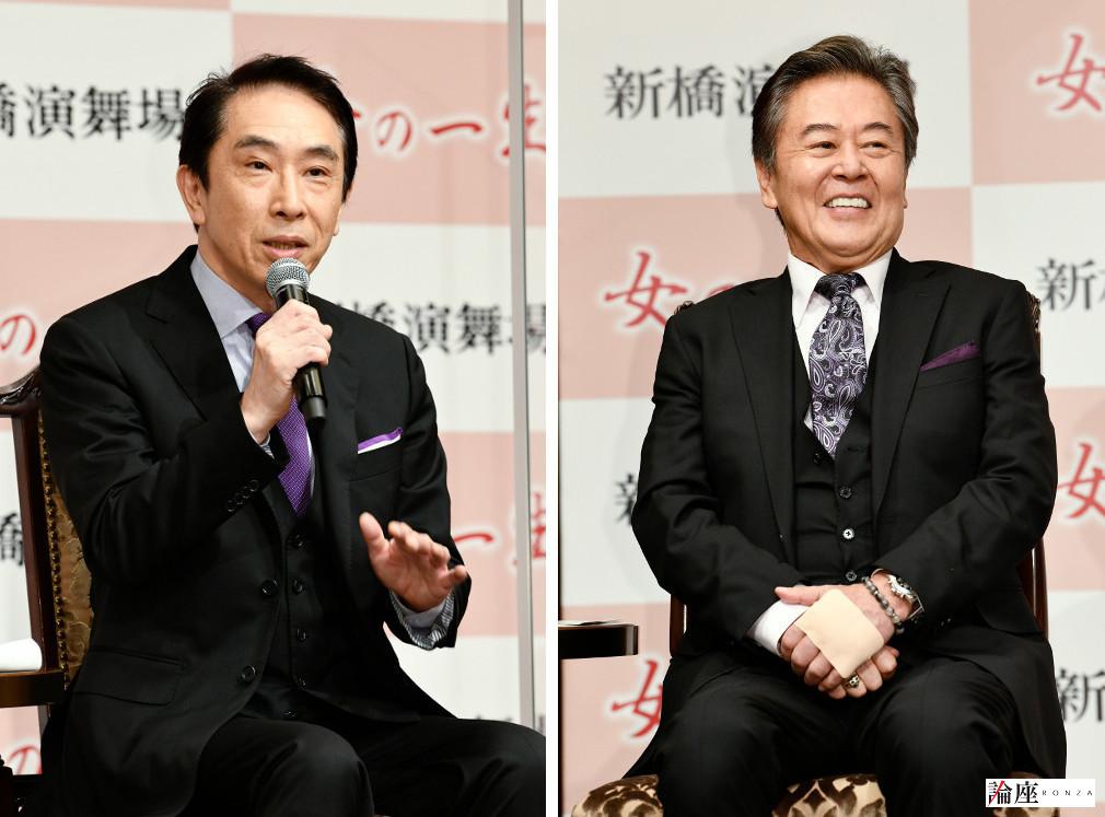 写真・図版 : 段田安則(左)、風間杜夫