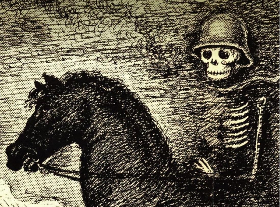写真・図版 : 『白い病』の初版本の表紙の絵の一部