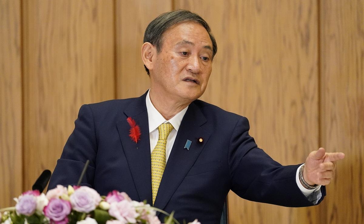 内閣記者会のグループインタビューで学術会議の問題について答えた菅義偉首相=2020年10月9日