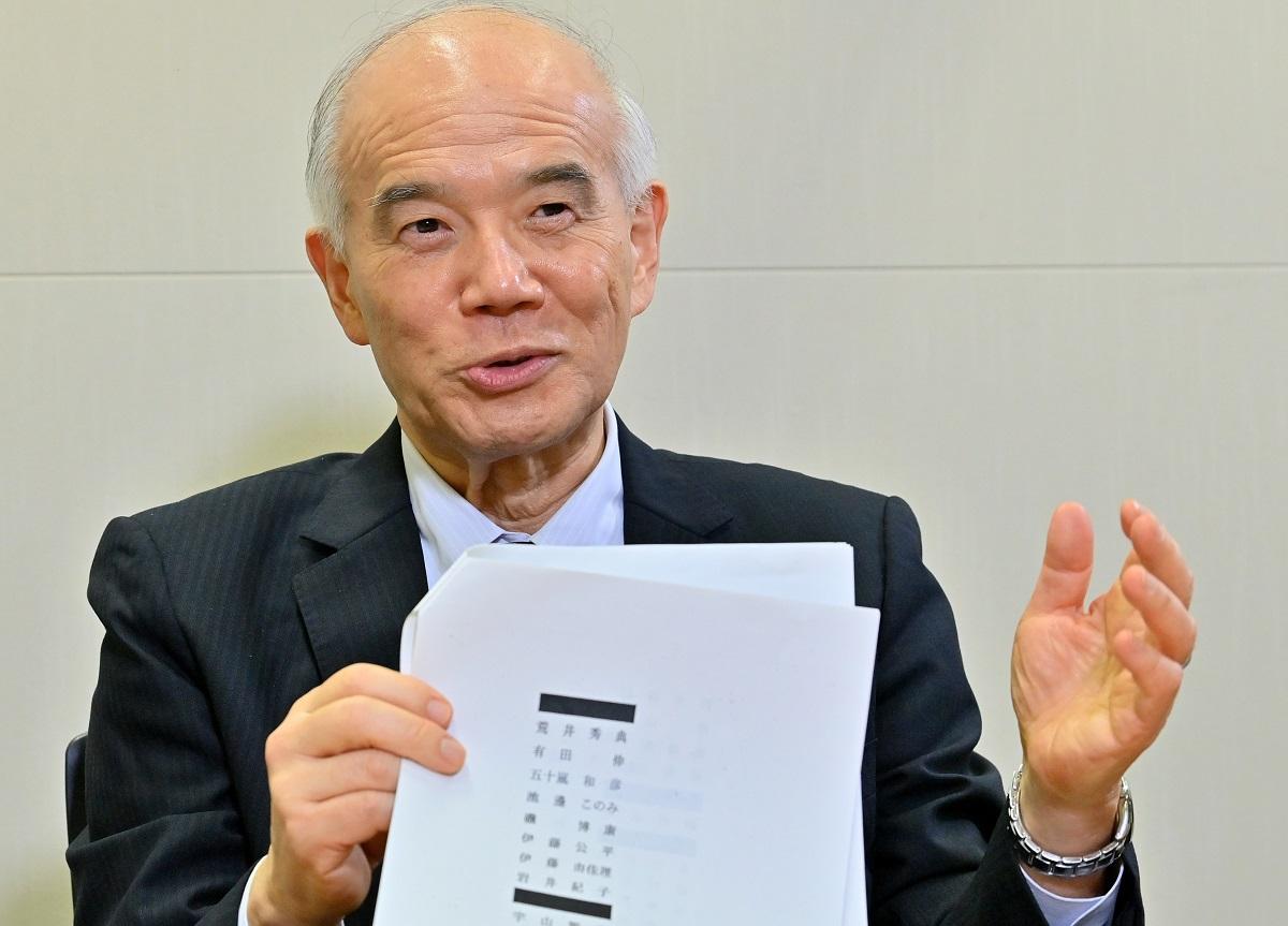 日本学術会議の元会長、大西隆・東京大名誉教授