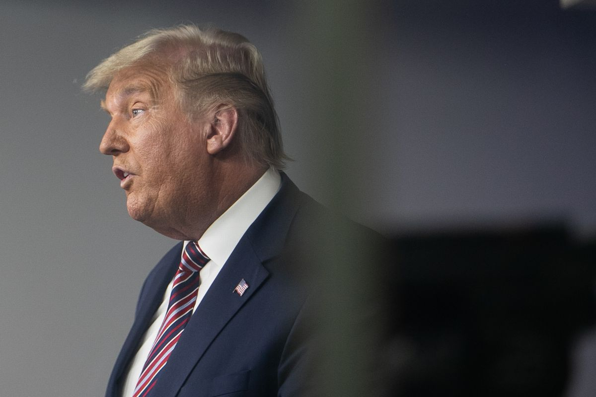 「私は勝った」と言い続けるトランプ大統領=2020年11月5日、ホワイトハウスで、ランハム裕子撮影