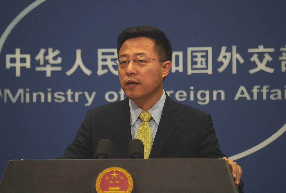 中国外務省の趙立堅副報道局長=2020年2月27日