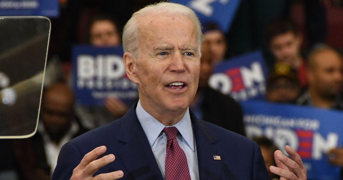 写真・図版 : ジョー・バイデン次期米大統領=2020年3月9日、米ミシガン州デトロイト