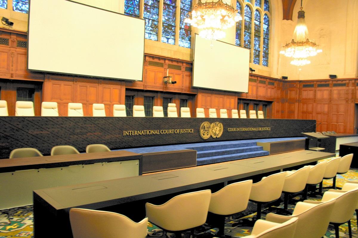 国際司法裁判所の大法廷=オランダ・ハーグ