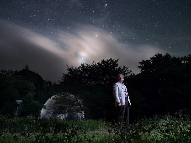 写真・図版 : 写真1:海部宣男さん=2012年、国立天文台の三鷹キャンパス、飯島裕撮影