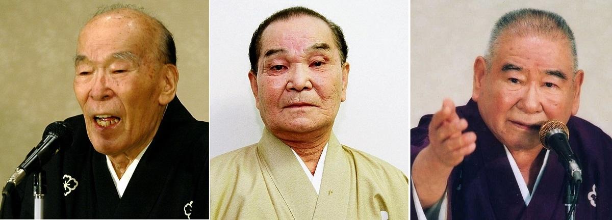 写真・図版 : (左から)五月一朗、東家三楽、玉川桃太郎