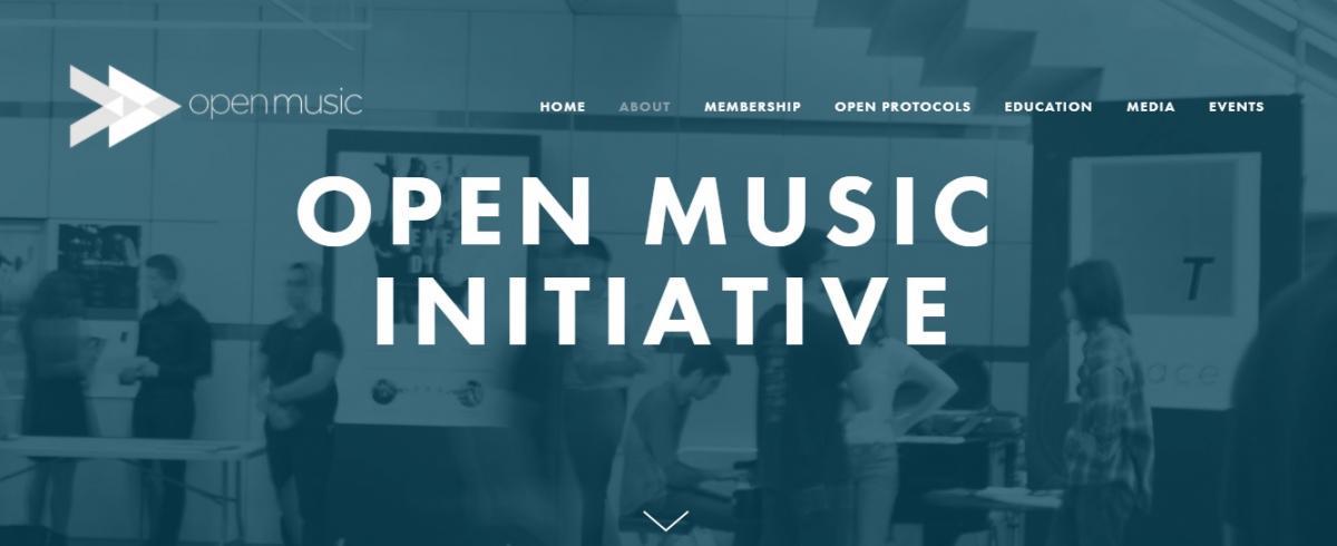 写真・図版 : 「オープン・ミュージック・イニシアチブ」のサイト画面から