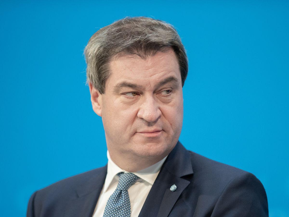 写真・図版 : キリスト教社会同盟(CSU)のマルクス・ゼーダー党首=photocosmos1/Shutterstock.com