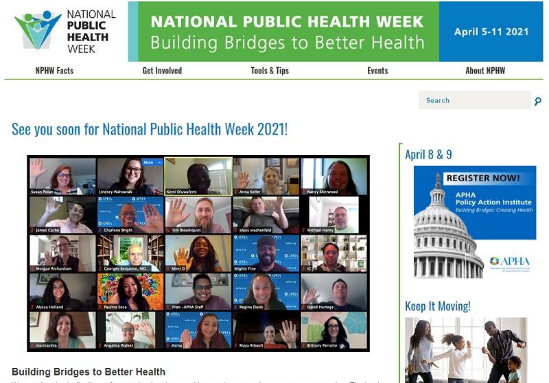写真・図版 : 米国では毎年4月に「公衆衛生週間」が設けられ、全国的なキャンペーンが展開される。今年は4月5日からの1週間だ。