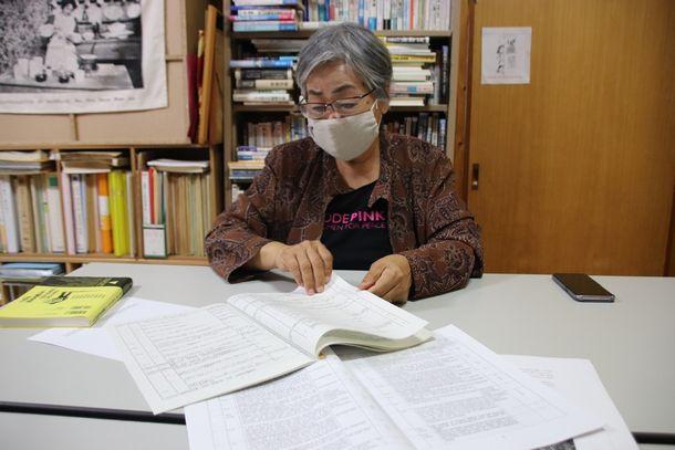 市民団体「基地・軍隊を許さない行動する女たちの会」共同代表の高里鈴代さん