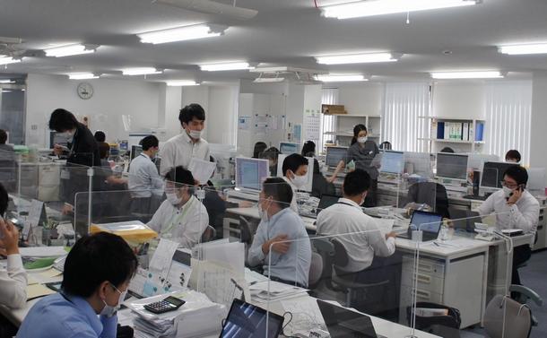 長府工産横浜支店の事務所