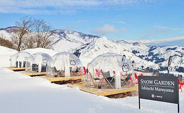 写真・図版 : 石打丸山スキー場「スノーガーデン」の「スノードーム」
