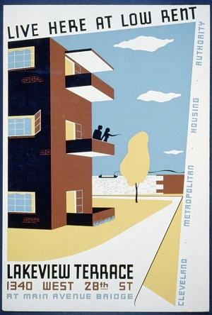 写真・図版 : 「ここで安く住もう」           クリーヴランド都市住宅局(1940年頃)