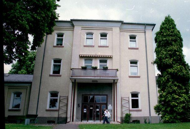 障がいのある人たちを虐殺したガス室が保存されている精神科病院=1998年、ドイツ・ハダマー