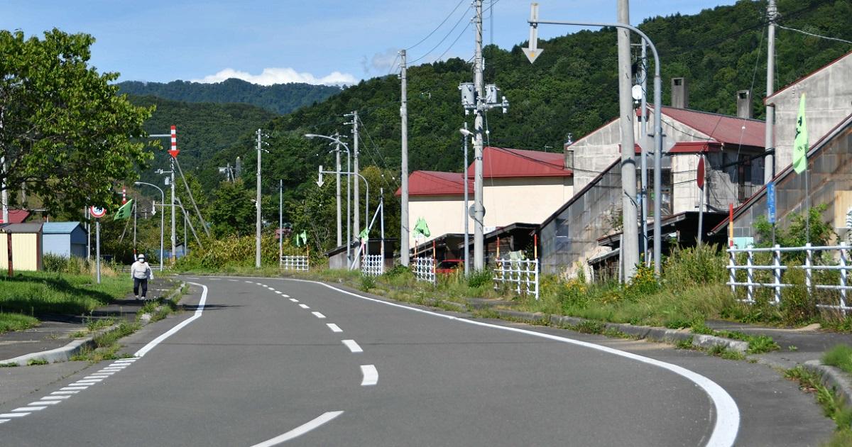 北海道夕張市の閑散とした住宅街