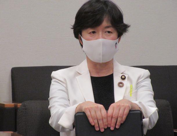 写真・図版 : 舟山康江さん=2021年5月18日、衆議院第一議員会館