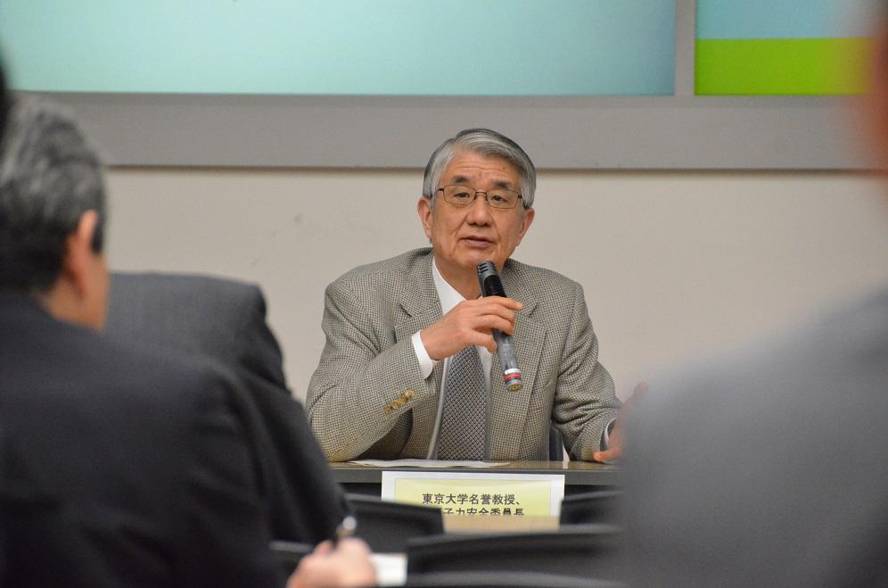 写真・図版 : 班目春樹・元原子力安全委員長