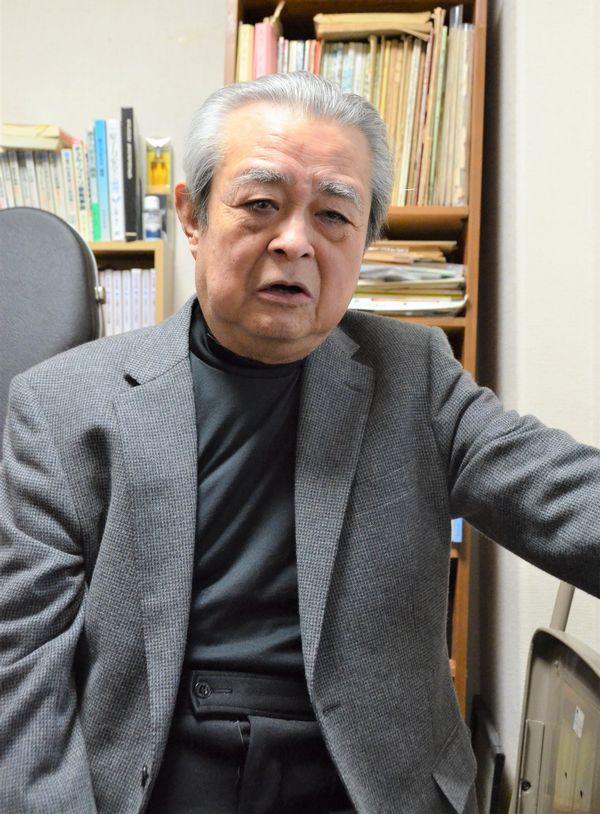 写真・図版 : 佐藤一男・元原子力安全委員長=2016年1月5日、茨城県内で