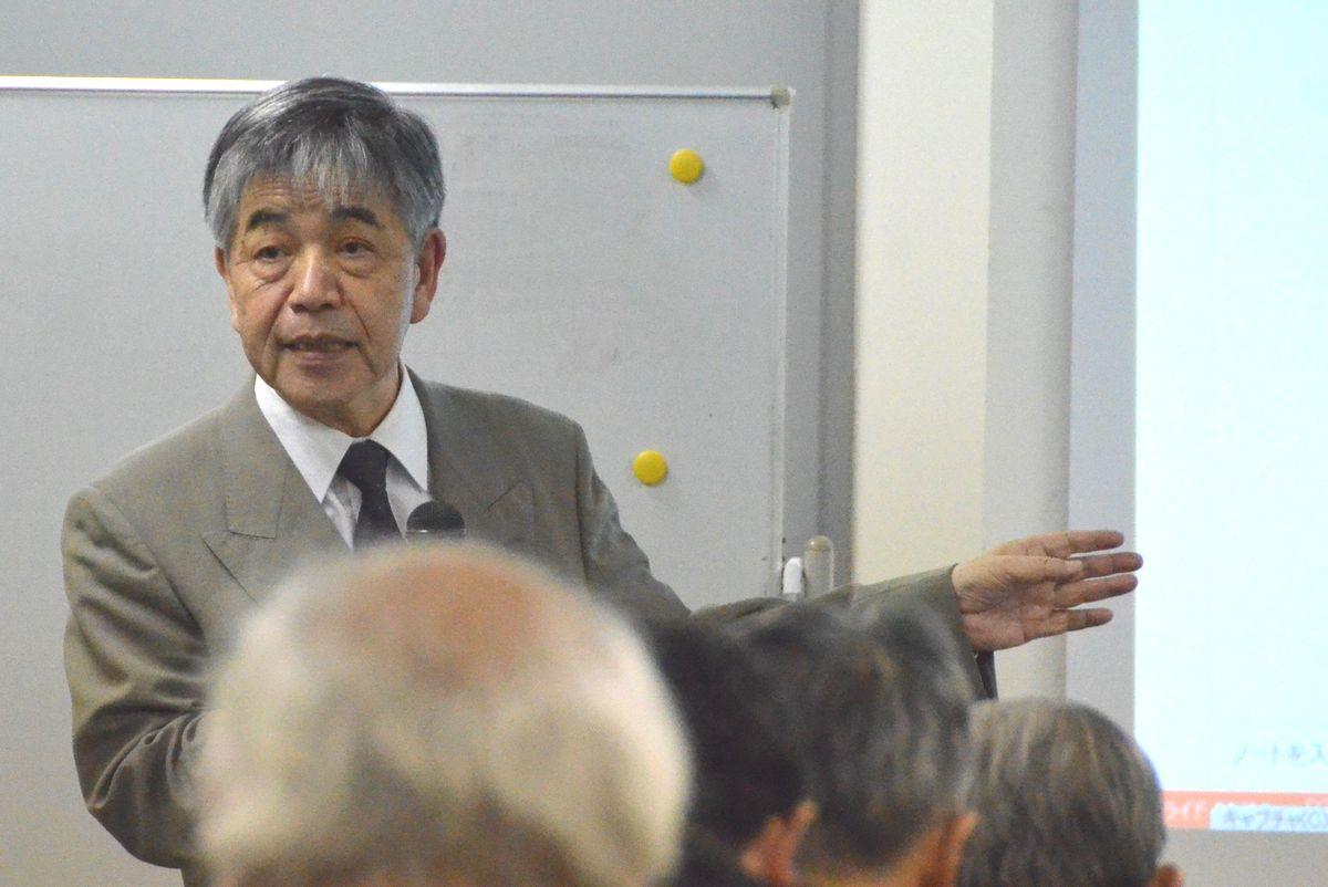 写真・図版 : 阿部清治・元原子力安全・保安院審議官=2016年11月18日、東京都内で