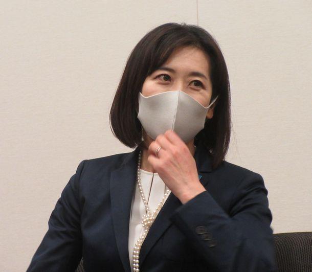 写真・図版 : 松川るいさん=2021年6月1日、衆院第一議員会館