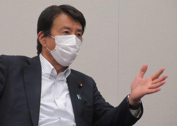 写真・図版 : 齋藤健さん=2021年6月1日、衆院第一議員会館