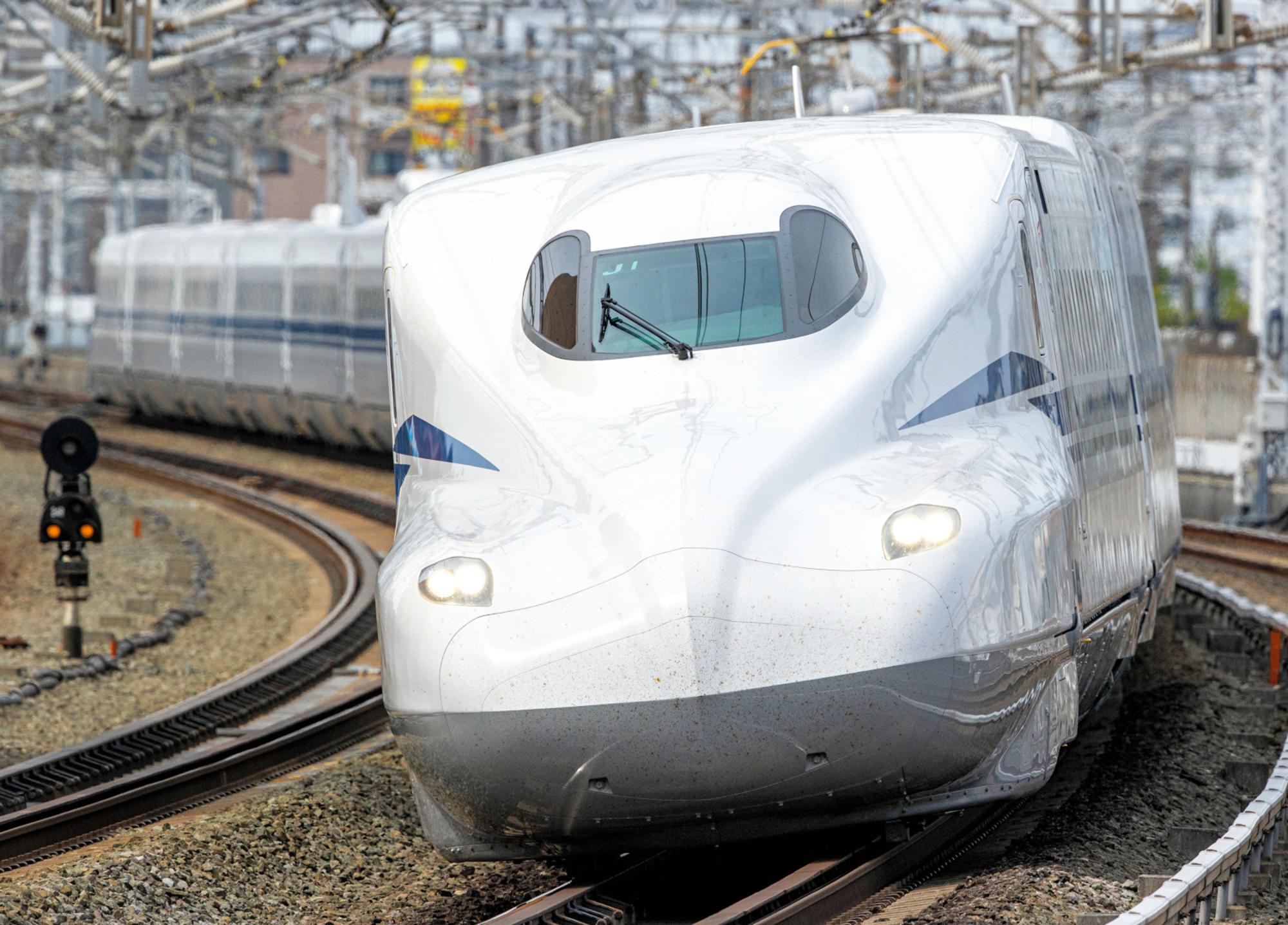 写真・図版 : 東海道新幹線のN700S車両(JR東海提供)