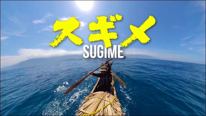 写真・図版 : 実験航海の活動を記録した映画『スギメ』。スギメとは、実験で使われた丸木舟の名前。