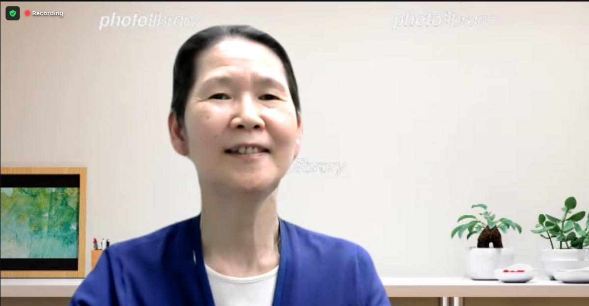 写真・図版 : インタビューに答える放影研の山田美智子・臨床研究部放射線科長