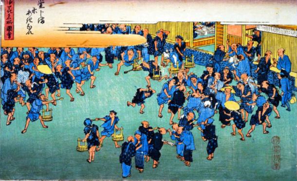 江戸中期の1730年に始まった大阪・堂島での米先物取引(国会図書館ウェブサイトから)