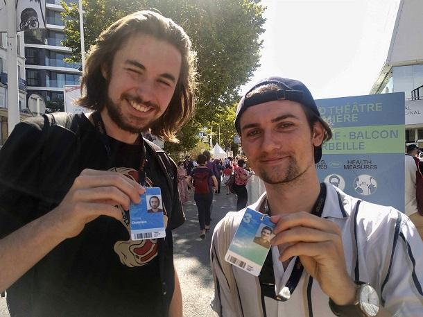 若者が映画祭に無料で参加ができる「カンヌの3日間」カード保持者(撮影=
