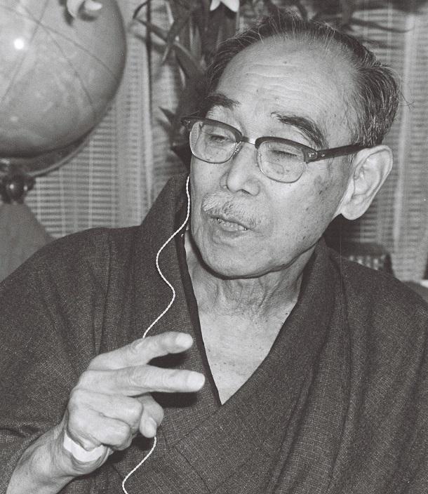 写真・図版 : 戦後の名古屋市の都市計画を主導した田淵寿郎=1968年撮影