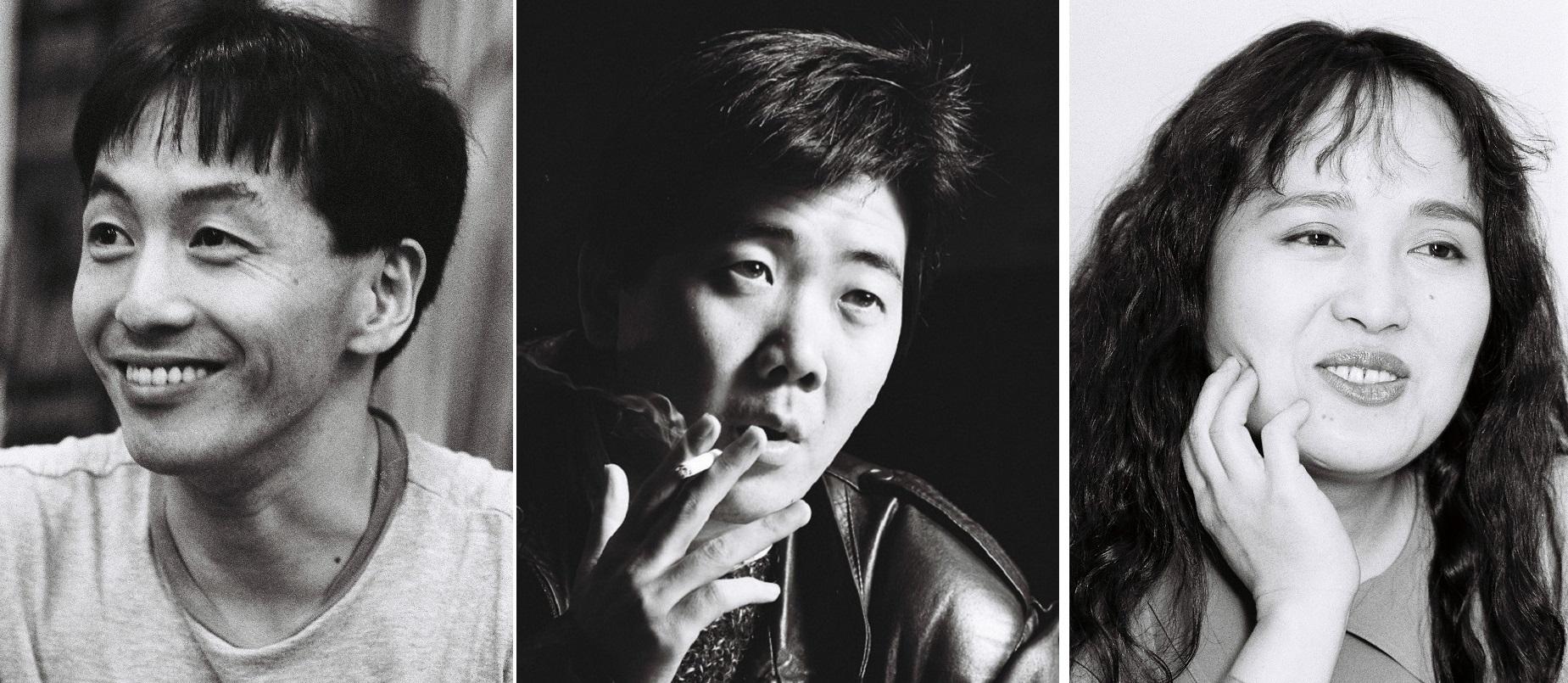 写真・図版 : (左から)野田秀樹(1991年)、鴻上尚史(89年)、渡辺えり子(90年)