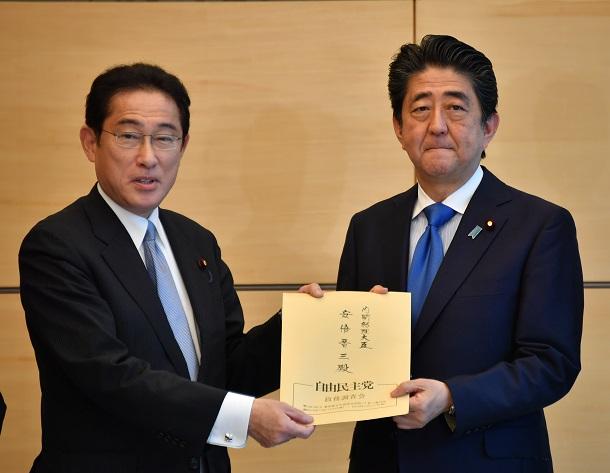 岸田氏と安倍晋三元首相