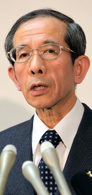 最高検の検事総長になった笠間治雄氏=2010年12月27日、東京・霞が関で