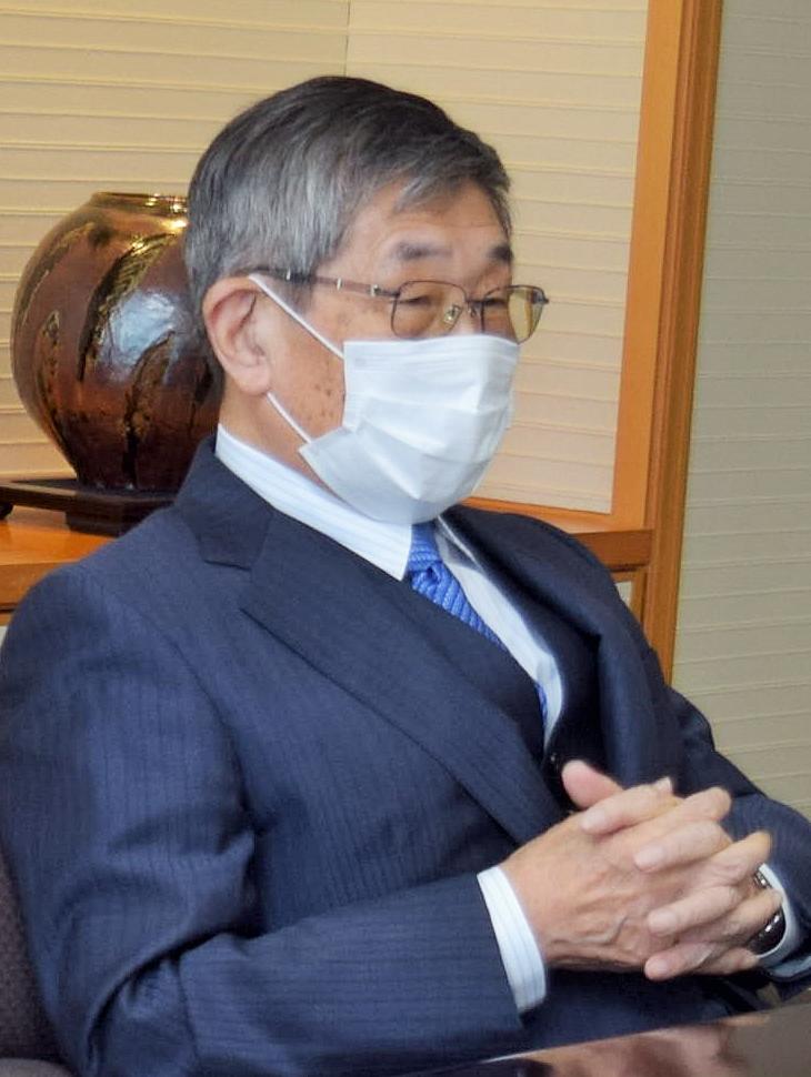 写真・図版 : 東芝の独立社外取締役、古田佑紀氏(元最高裁判事、元最高検次長検事)=東芝本社
