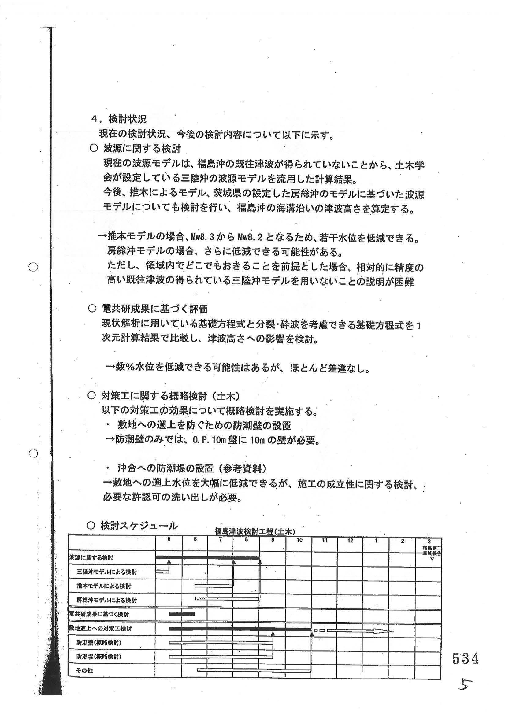 写真・図版 : 東京電力の土木グループが2008年6月10日の社内会議で同社の武藤栄常務らに示した文書=避難者が国や東電を相手に大阪地裁で起こした訴訟の丙B第268号証の4として原子力規制委員会が情報公開法に基づき2020年2月に記者に開示