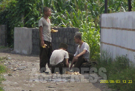 北朝鮮の兵士たちが飢えている